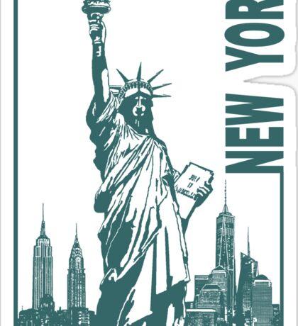 New York-Statue of Liberty  Sticker