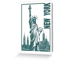 New York-Statue of Liberty  Greeting Card