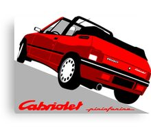 Peugeot 205 Cabriolet red Canvas Print