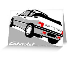 Peugeot 205 Cabriolet white Greeting Card