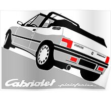 Peugeot 205 Cabriolet white Poster