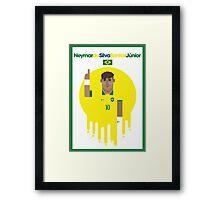 Neymar jr - Brazil Framed Print