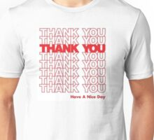 Thank You Grocery bag design Unisex T-Shirt
