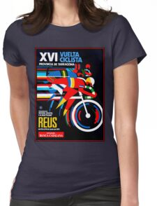 VUELTA CICLISTA; VintageBicycle Racing Advertising Print Womens Fitted T-Shirt