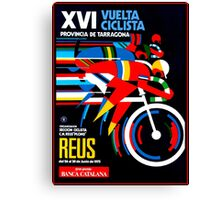 VUELTA CICLISTA; VintageBicycle Racing Advertising Print Canvas Print