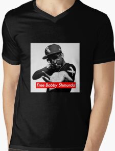 Free Bobby Shmurda Mens V-Neck T-Shirt