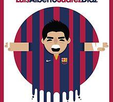 Luis Suarez - Barcelona by Gary Ralphs