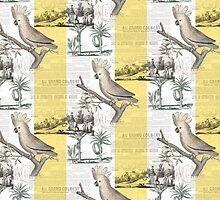 Cockatoo Tropical Toile by AntiqueImages