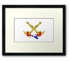 Papal States Flag Framed Print