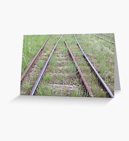 Merging Paths Greeting Card