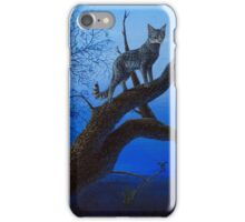 Wild Blue, Cat acrylic painting iPhone Case/Skin