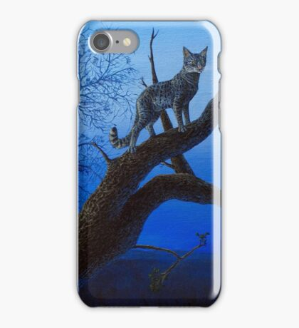 Wild Blue, Cat acrylic painting iPhone Case/Skin