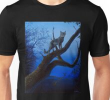 Wild Blue, Cat acrylic painting Unisex T-Shirt