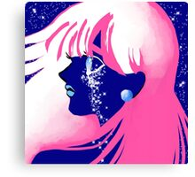 Jet Girl Dark Canvas Print