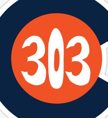 Hand Drawn Colorado Flag 303 Area Code Broncos Sticker