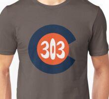 Hand Drawn Colorado Flag 303 Area Code Broncos Unisex T-Shirt