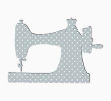 Sewing Machine, Polka Dots (Spots) - Blue White Kids Clothes