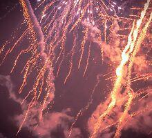 Firework Storm - From Fiestas del Apóstol in Santiago de Compostela by Alexandra Vaughan Photography & Design