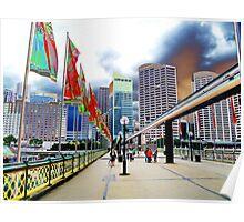 Pyrmont Bridge swings, in more ways than one Poster