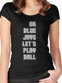 OK Blue Jays Let's Play Ball Women's Fitted Scoop T-Shirt