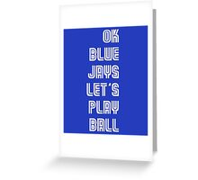 OK Blue Jays Let's Play Ball Greeting Card