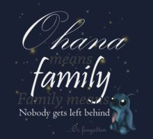 Ohana means family - T-shirt by RandomCitizen