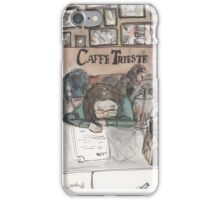 An urban sketch at Cafe Trieste iPhone Case/Skin