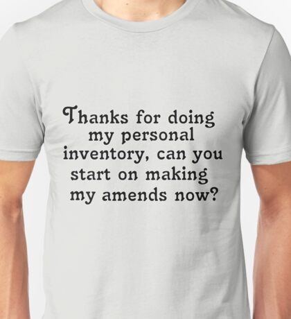Personal inventory Unisex T-Shirt
