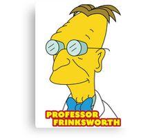 Professor Frinksworth - Futurama/The Simpsons Crossover Parody Canvas Print
