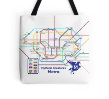 Epic Mythical Creatures Underground Map Tote Bag