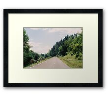 some roads you have to walk alone Framed Print
