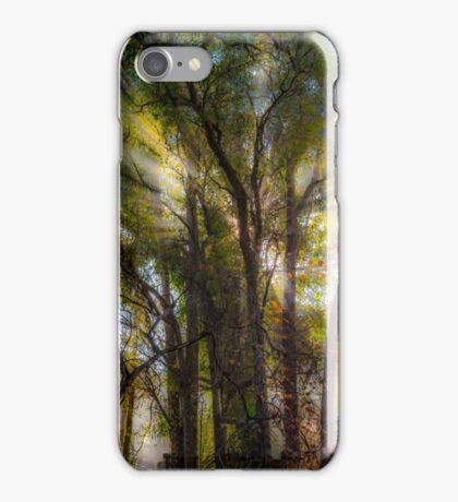 Smoke through the trees iPhone Case/Skin