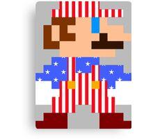 Mario (Patriotic) Canvas Print