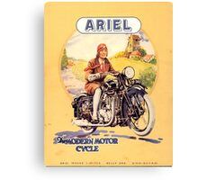 vintage motorcycle Canvas Print