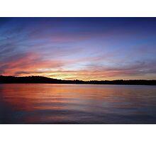 Sunset, Lake Sidney Lanier Photographic Print