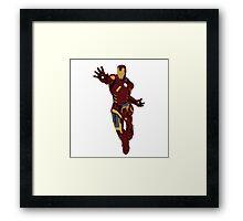 Iron Man - block colours Framed Print