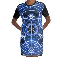 Human Transmutation Circle Graphic T-Shirt Dress