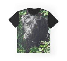 Cute Black Lab puppy, painting Graphic T-Shirt