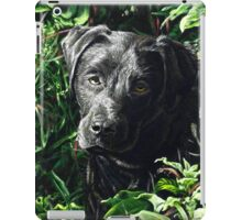 Cute Black Lab puppy, painting iPad Case/Skin