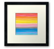 Crayon Love: Good Feeling Framed Print