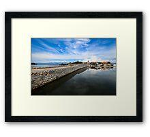 Bridge to Nin, Croatia Framed Print