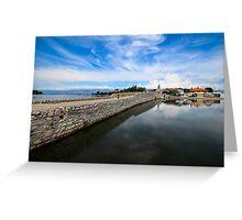 Bridge to Nin, Croatia Greeting Card