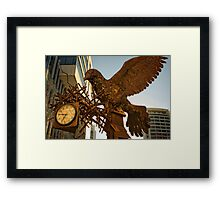 Iron bird close to the Nishi Building in Canberra/ACT/Australia (1) Framed Print