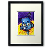 CUTE KID - COOL BLUE Framed Print