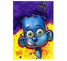 CUTE KID - COOL BLUE Photographic Print