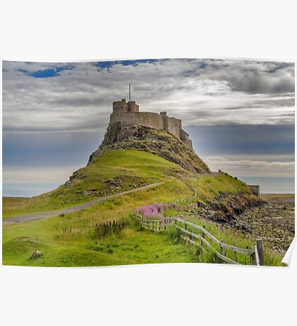 The Castle  Holy Island Poster