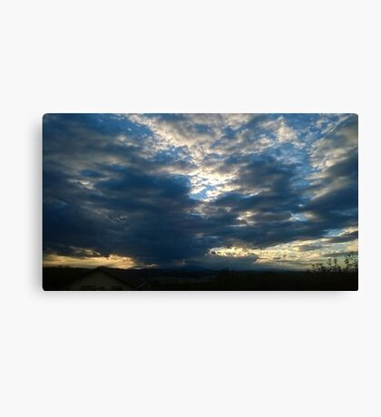 Cloudy sky (wide) Canvas Print
