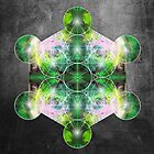 Metatron's Cube green by filippobassano