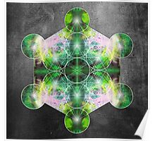Metatron's Cube green Poster