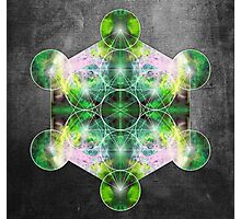 Metatron's Cube green Photographic Print